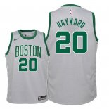 Camisetas Niños Boston Celtics Gordon Hayward Nike Gris Ciudad 2018