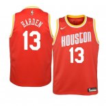 Camisetas Niños Houston Rockets James Harden Naranja Hardwood Classics 2019-20