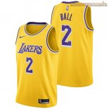 Camisetas Los Angeles Lakers Lonzo Ball Amarillo Icon 2018-2019