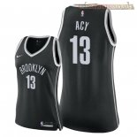 Camisetas Mujer Brooklyn Nets Quincy Acy Negro Icon 2018