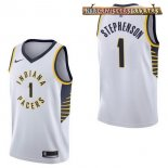Camisetas Indiana Pacers Lance Stephenson Blanco Association 2017-2018