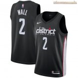 Camisetas Nike Washington Wizards John Wall Nike Negro Ciudad 2018-2019