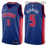 Camisetas Detroit Pistons Luke Kennard Azul Icon 2017-2018
