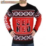NBA Unisex Ugly Sweater Chicago Bulls Rojo Negro