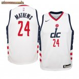Camisetas Niños Washington Wizards Garrison Mathews Nike Blanco Ciudad 2019-20