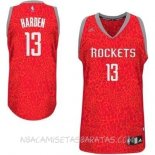 Camisetas Houston Rockets Luz Leopardo Harden Rojo