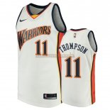 Camisetas Golden State Warriors Klay Thompson Blanco Throwback