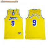 Camisetas Los Angeles Lakers NO.9 Nick Van Exel Amarillo