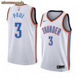 Camisetas NBA Nike Oklahoma City Thunder Chris Paul Blanco Association Edition