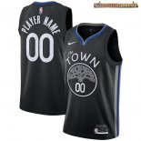 Camisetas NBA Golden State Warriors Personalizada Negro Ciudad 2020