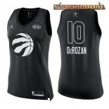 Camisetas Mujer 2018 All Star DeMar DeRozan Negro