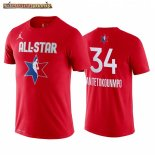 Camisetas 2020 All Star Giannis Antetokounmpo Rojo