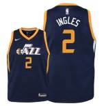 Camisetas Niños Utah Jazz Joe Ingles Marino Icon 2018