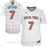 Camisetas New York Knicks Noches Latinas Manga Anthony Blanco