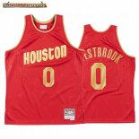 Camisetas NBA CNY Throwback Huston Rockets Russell Westbrook Rojo 2020