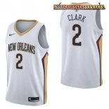 Camisetas New Orleans Pelicans Ian Clark Blanco Association 2017-2018