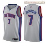 Camisetas Detroit Pistons Stanley Johnson Gris Statement 2017-2018