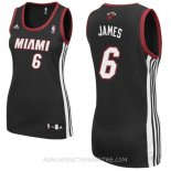 Camisetas Mujer Miami Heat LeBron James Negro