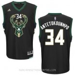 Camisetas Milwaukee Bucks Giannis Antetokounmpo Negro