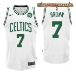 Camisetas Boston Celtics Jaylen Brown Blanco 2017-2018