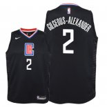 Camisetas Niños Los Angeles Clippers Shai Gilgeous Alexander Negro Statement 2018