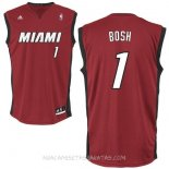 Camisetas Miami Heat Chris Bosh Rojo Negro