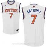 Camisetas New York Knicks Carmelo Anthony Blanco