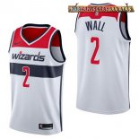 Camisetas Washington Wizards John Wall Blanco Association 2017-2018