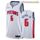 Camisetas Detroit Pistons Bruce Brown Jr Blanco Association 2017-2018