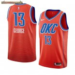 Camisetas NBA Nike Oklahoma City Thunder Paul George Naranja Statement 2019-20