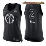 Camisetas Mujer 2018 All Star John Wall Negro