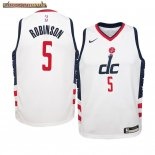Camisetas Niños Washington Wizards Justin Robinson Nike Blanco Ciudad 2019-20