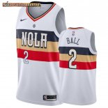 Camisetas New Orleans Pelicans Lonzo Ball Blanco Earned 2019-20