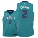 Camisetas Niños Charlotte Hornets Marvin Williams Verde Icon 2018