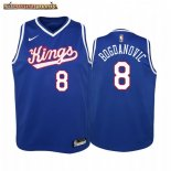 Camisetas Niños Sacramento Kings Bogdan Bogdanovic Azul Throwback