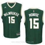 Camisetas Milwaukee Bucks Greg Monroe Verde