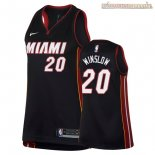 Camisetas Mujer Miami Heat Justise Winslow Negro Icon 2018