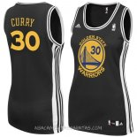 Camisetas Mujer Golden State Warriors Stephen Curry Negro