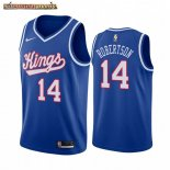 Camisetas NBA Sacramento Kings Oscar Robertson Azul Throwback