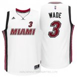 Camisetas Miami Heat Dwyane Wade Retro Blanco