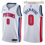 Camisetas Detroit Pistons Andre Drummond Blanco Association 2017-2018