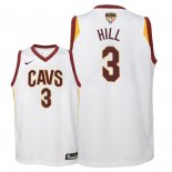 Camisetas Niños Cleveland Cavaliers 2018 Finales Champions George Hill Blanco Association Parche