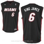 Camisetas Miami Heat King James Negro