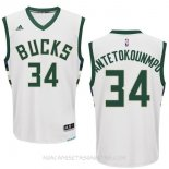 Camisetas Milwaukee Bucks Giannis Antetokounmpo Blanco