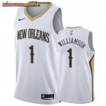 Camisetas New Orleans Pelicans Zion Williamson Blanco Association
