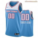Camisetas Nike Sacramento Kings Willie Cauley Stein Nike Azul Ciudad 2018-2019
