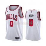 Camisetas Chicago Bulls Coby White Blanco Association 2019-2020