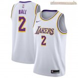 Camisetas Los Angeles Lakers Lonzo Ball Blanco Association 2018-2019
