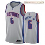 Camisetas Detroit Pistons Bruce Brown Jr Gris Statement 2017-2018