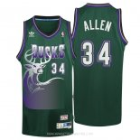 Camisetas Milwaukee Bucks Ray Allen Verde
